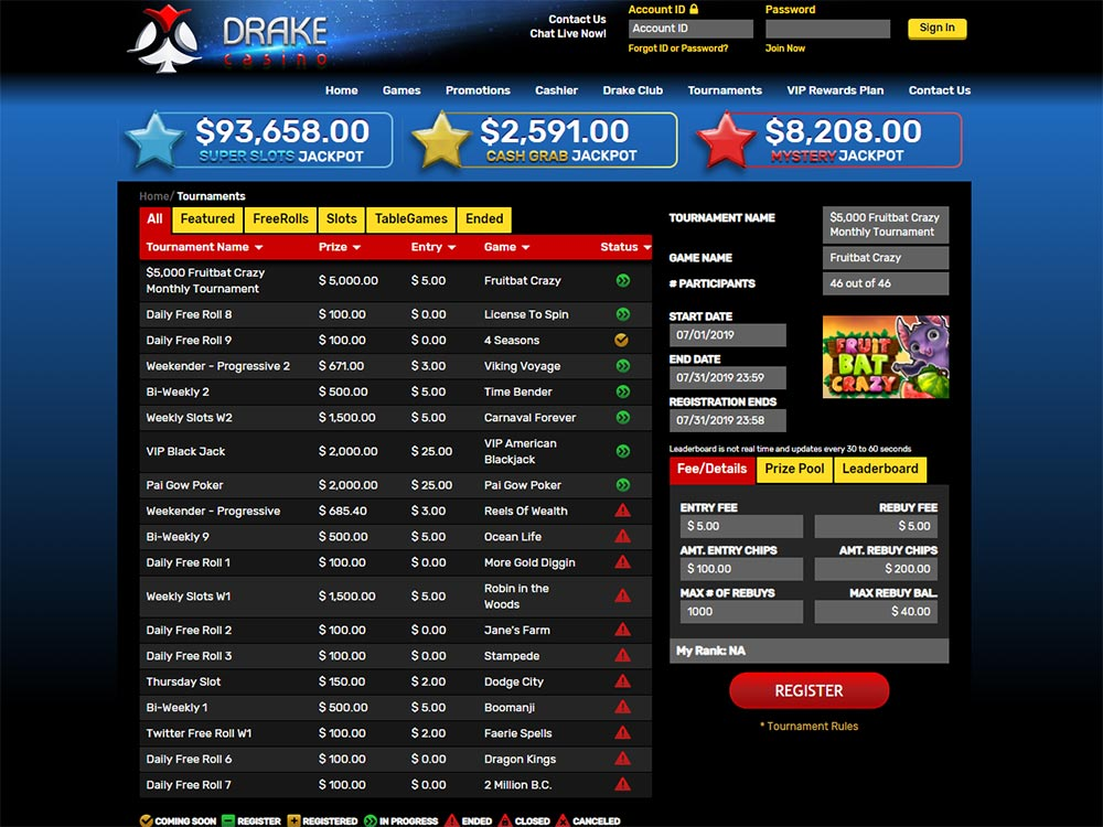 Drake Casino Tournaments