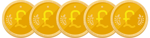 5 Pound Deposit Bonus Illustration