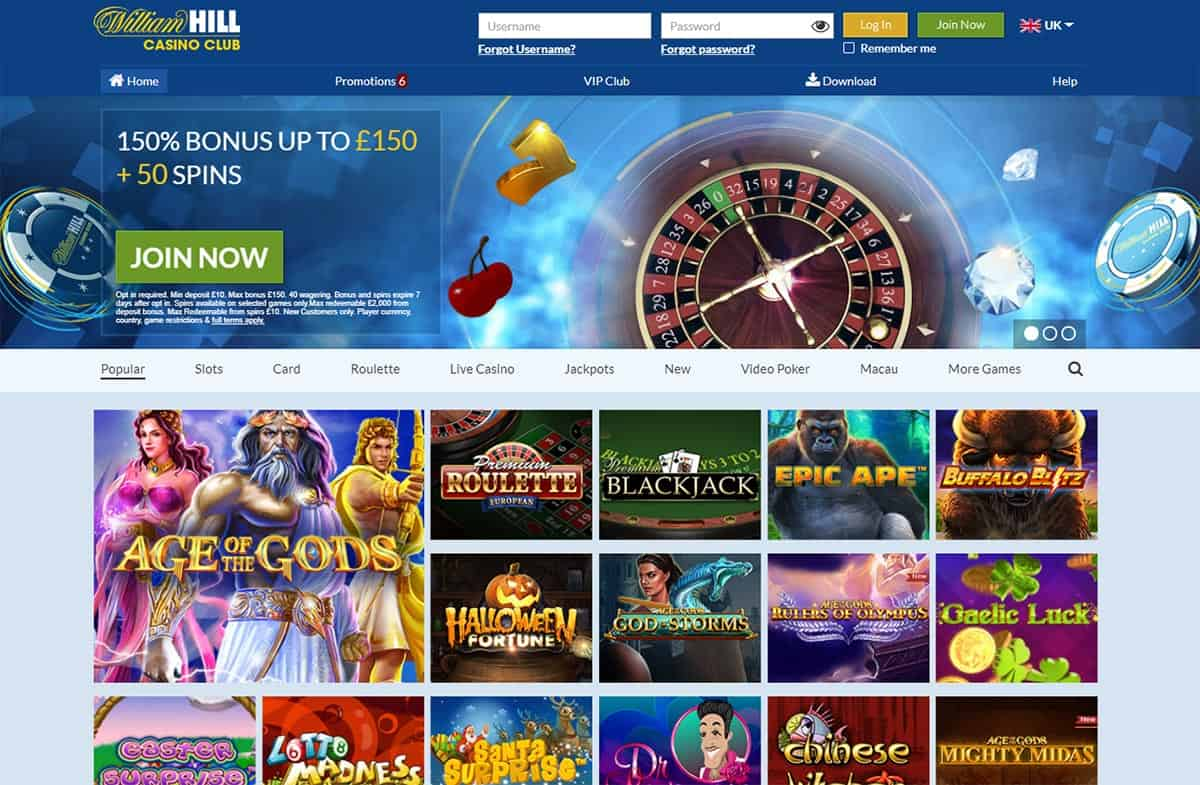 William Hill Casino Club Promo