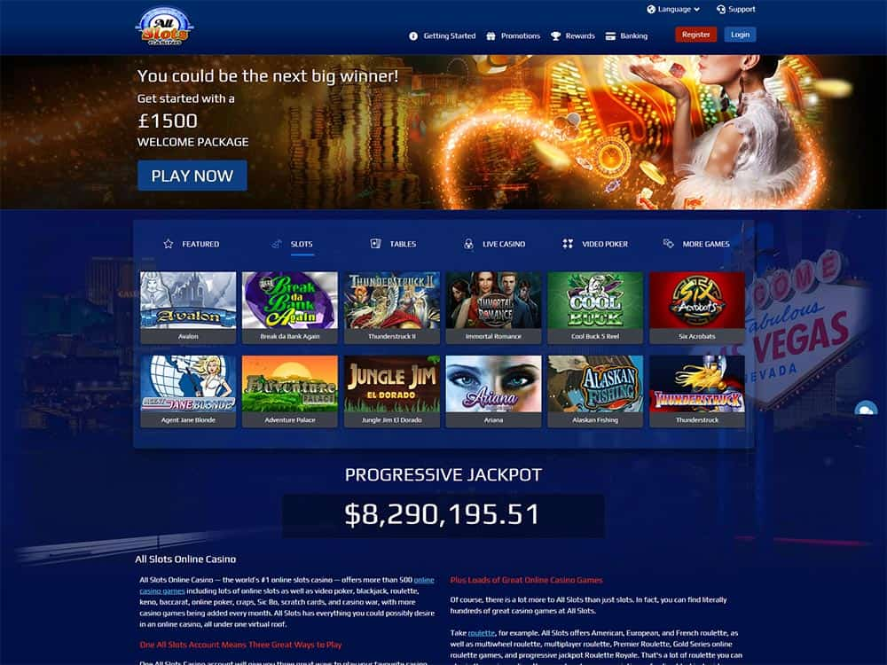 All Slots Casino Home Page