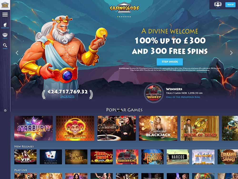 Casino Gods Home Page