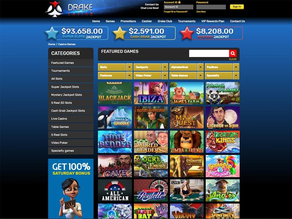 Drake Casino Games