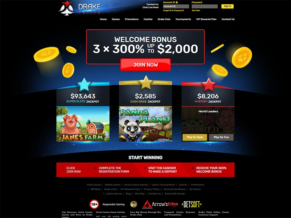 Drake Casino Home Page