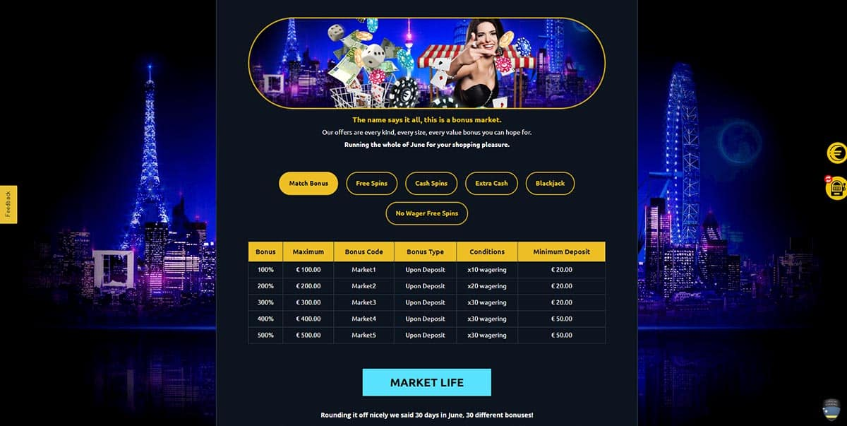 Euromoon Casino Special Promo