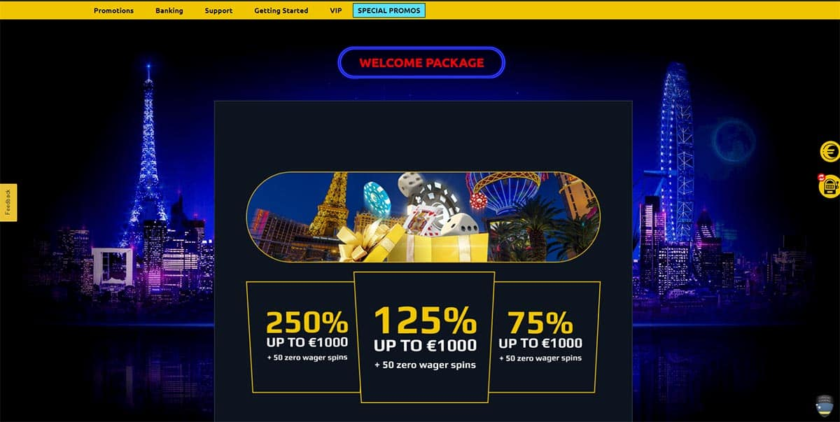 Euromoon Casino Welcome Package