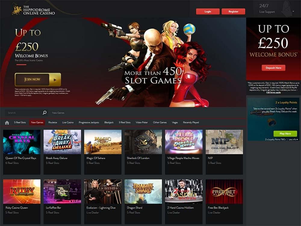 Hippodrome Online Casino Games