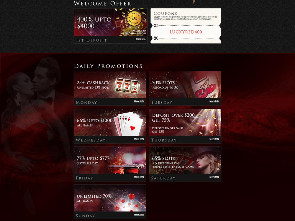 Lucky Red Casino Promotions List