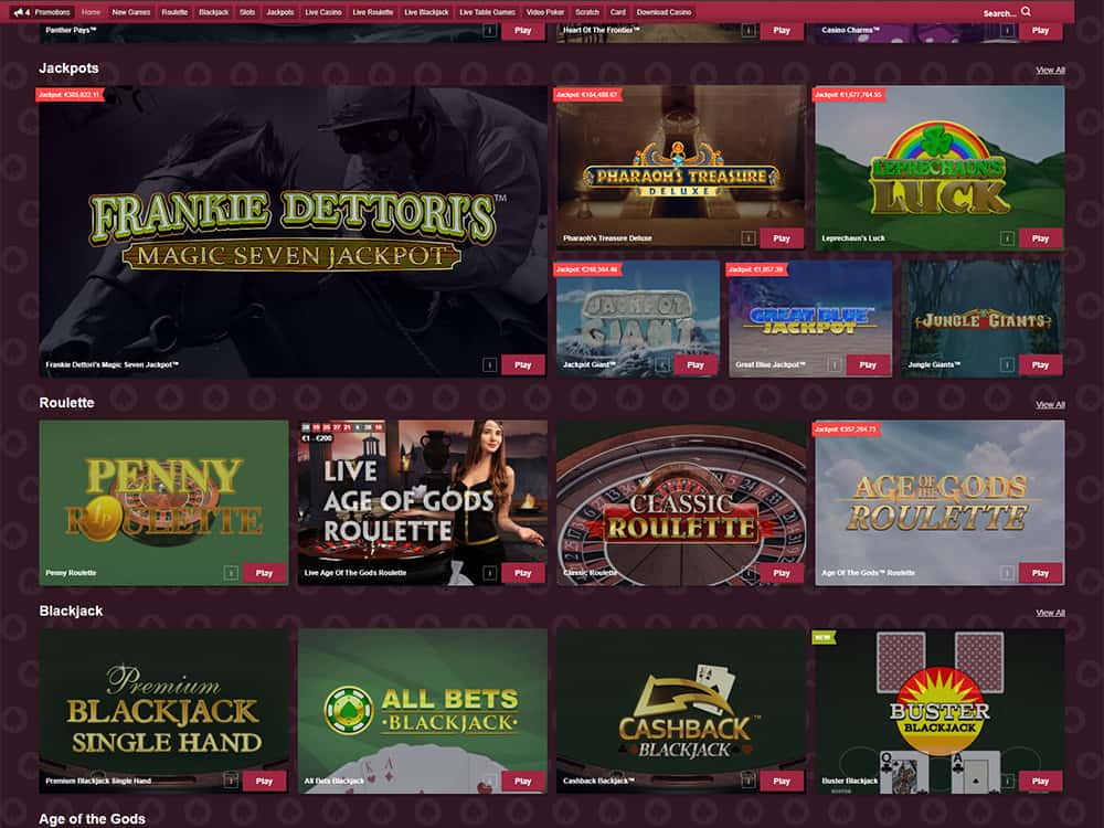PaddyPower Casino Home Page