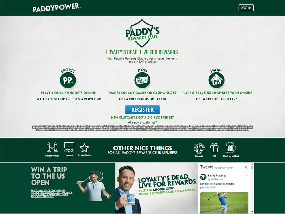 PaddyPower Casino Paddys Club