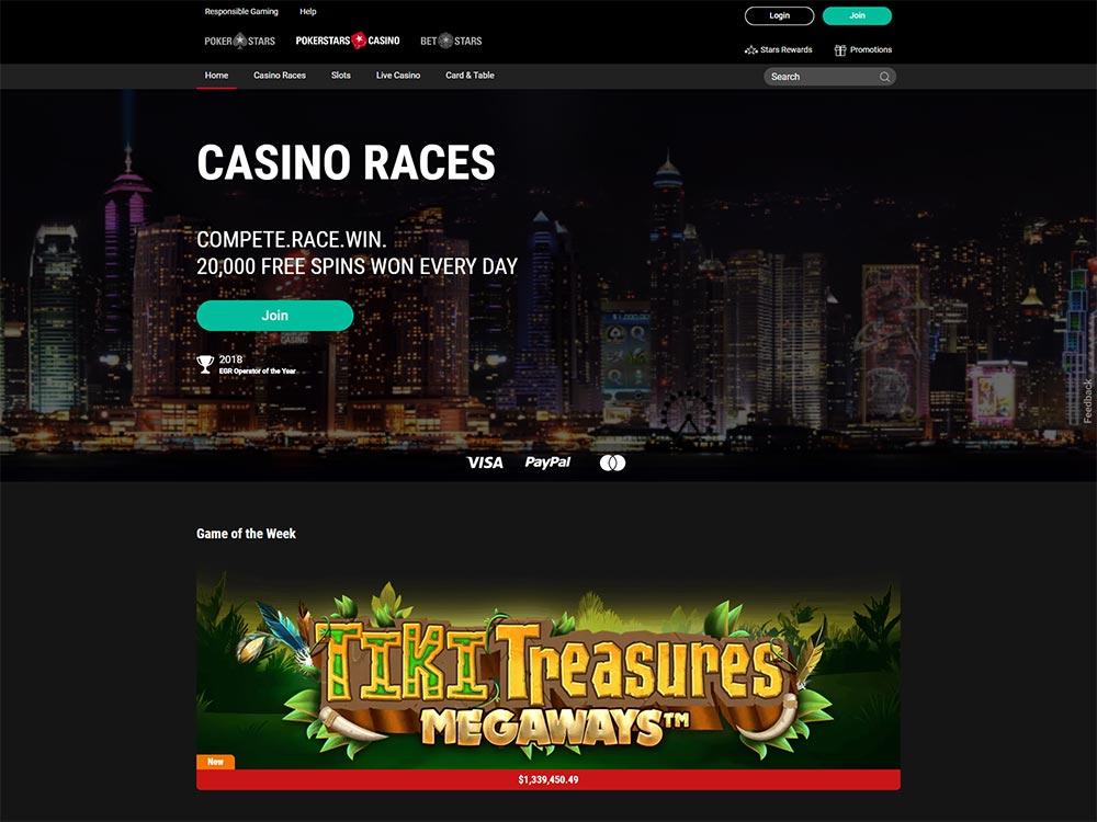 PokerStars Casino Home Page