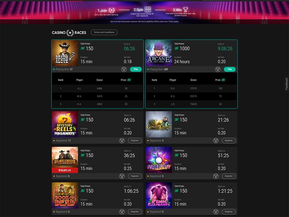 PokerStars Casino Races