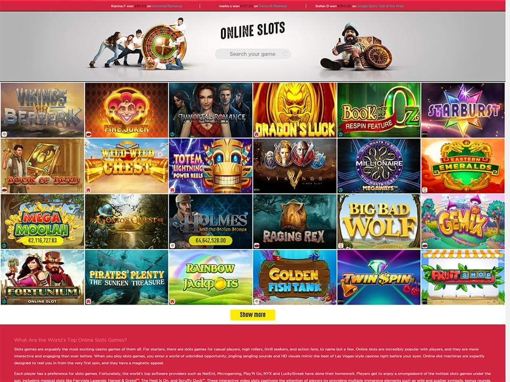 Spinit Casino Slots Games