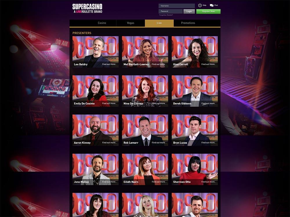 SuperCasino Presenters