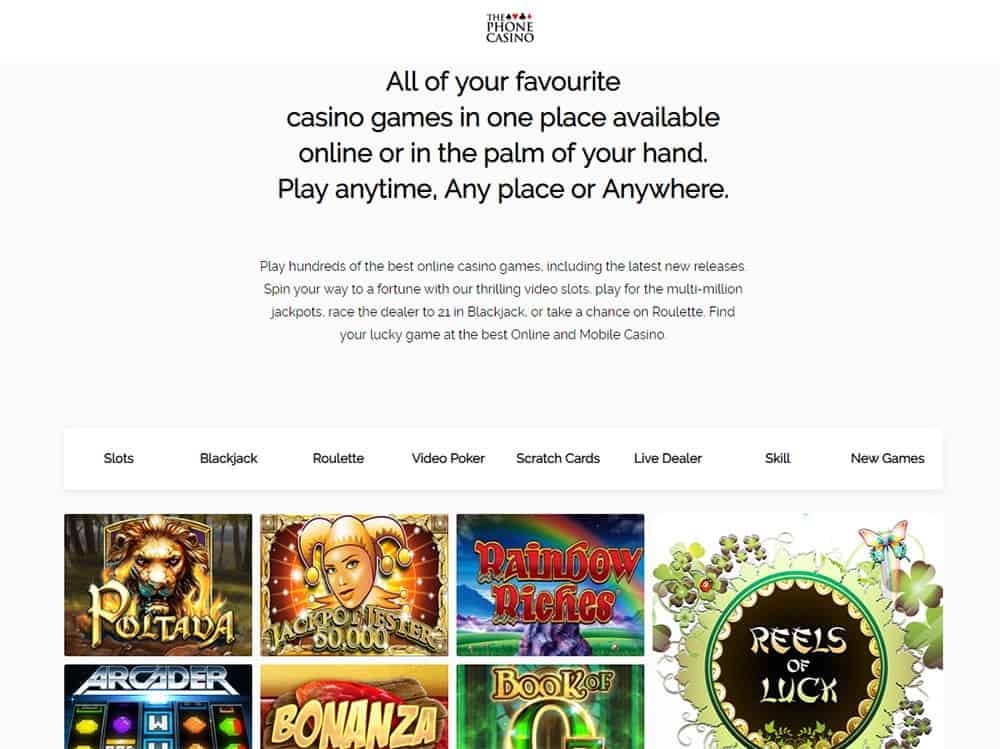 The Phone Casino Home Page