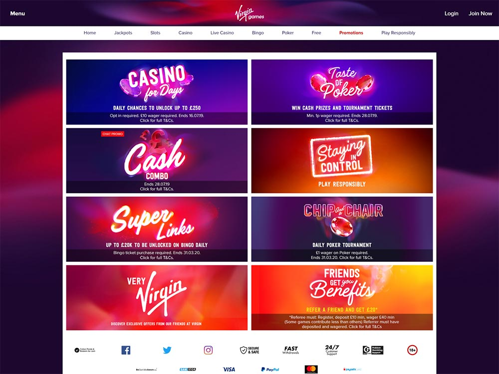 Virgin Games Casino Promotions