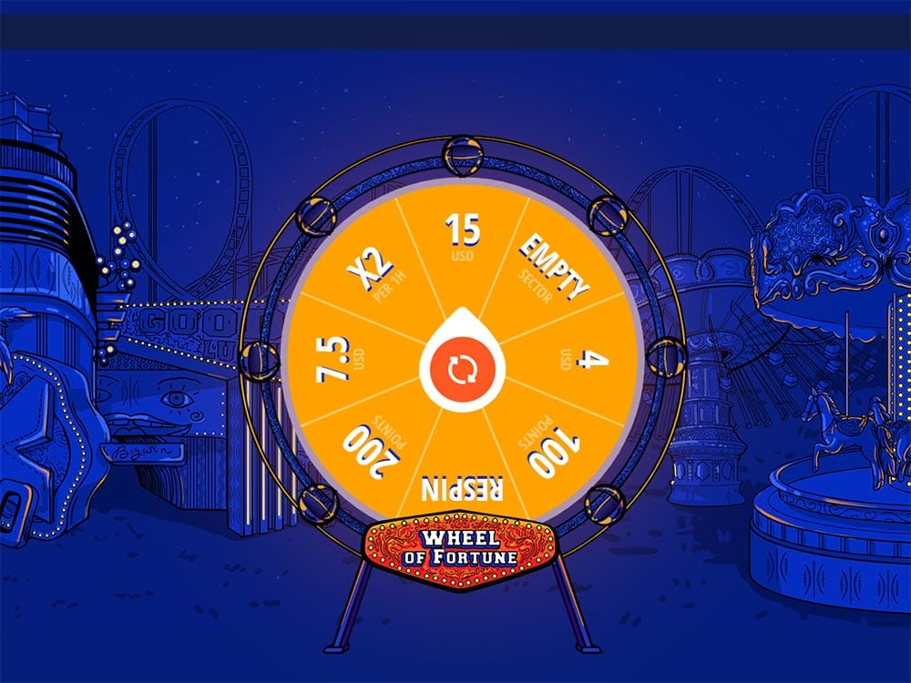Vulkan Vegas Casino Wheel of Fortune Game